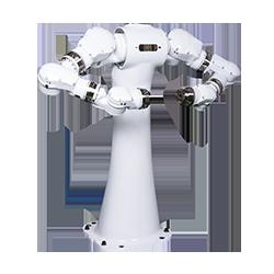 画像は、安全キャビネットやアイソレータなどの装置内への設置に適した小型双腕形 15軸多関節ロボット「MOTOMAN-CSDA10F」。EMCや衛生環境にも対応した設計です。安川電機のロボットは、製造業以外では、製造業以外では、自動化や衛生面の問題からニーズのある医薬・医療・食品・化粧品やバイオメディカル市場への取り組みを強化しています。