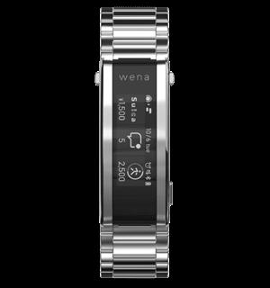 画像はSONYのスマートウォッチ「wena 3 metal」です。スマートウォッチは、代表的な小型ハードウェアです。電子マネーや独自のアルゴリズムを搭載しており健康もアプリで管理が可能。モジュール部にはSUS316Lを採用。充電方法はワイヤレス方式。